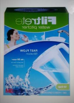 Water Filter Pitcher & Replacement Filter 12 Cup BY 3M new
