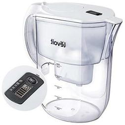 Water Filter Pitcher, Purifier With Electronic Indicator, La