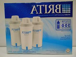 Brita Water Filter Pitcher Replacement Filters, 3 Count,