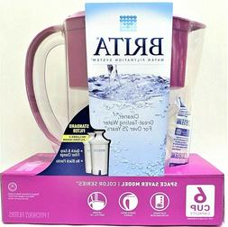 Brita Water Filter Space Saver Color Series Purple 6 Cup w/