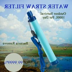 Water Filter Straw Safe Drinking Farming Fishing Backpacking