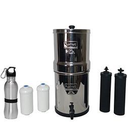 Travel Berkey Water Filter 1.5 Gallon System Bundle: 2 Black