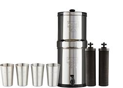 Bundle Includes Travel Berkey Water Filter System with 2 Bla