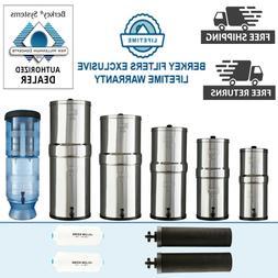 Berkey Water Filter System with PF2 - Travel, Big, Royal, Cr