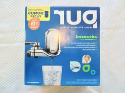 PUR Water Filtration System 1 Chrome Faucet Mount / 2 Filter