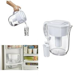 Water Pitcher With Filter 10 Cup Cooler Pitchers Clear Plast