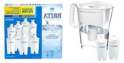 Brita Wave 10-cup Water Pitcher + 2 Advance Brita Filters It
