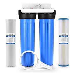 """Well Water Whole House Filtration System 20"""" Dual Stage Comp"""