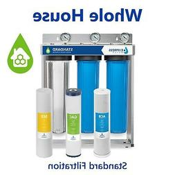 Whole House Water Filter System Carbon Sediment 3 Stage Filt