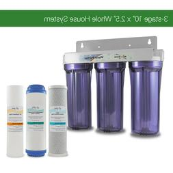 """Whole House Water Filter System 2.5"""" x 10"""" Three Stage Filtr"""