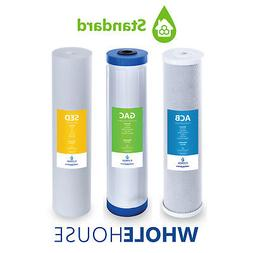 Whole House Replacement Water Filter Set Carbon CTO GAC Sedi