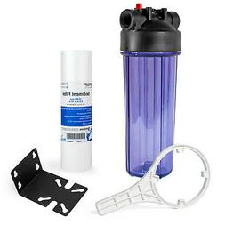 Whole House Water Filtration Kit With Clear Housing and Sedi