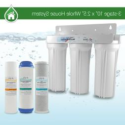 "Whole House Water Filter System 2.5"" x 10"" White 3 Stage Fil"