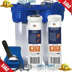 Whole House Water Filtration System 2 Stage Under Sink Count