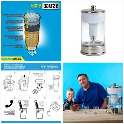 ZeroWater 40 Cup Ready-Pour Glass Dispenser BPA-Free with Fr